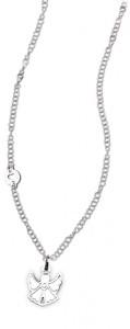 CH14 collana in acciaio girocollo angioletto lunghezza 50 cm dimensioni charm 2x2 cm