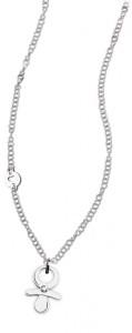 CH18 collana in acciaio girocollo ciuccio lunghezza 50 cm dimensioni charm 2x1,5 cm