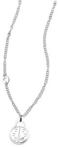 CH19 collana in acciaio girocollo coccinella lunghezza 50 cm dimensioni charm 2x2 cm