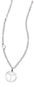 CH 20 collana in acciaio girocollo con Cristo lunghezza 50 cm dimensioni charm 2x2 cm
