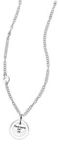 CH24 collana in acciaio girocollo il mio cuore per te lunghezza 50 cm dimensioni charm 2x2 cm