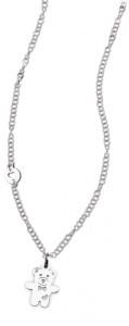 CH30 collana in acciaio girocollo orsetto lunghezza 50 cm dimensioni charm 2x1,5 cm