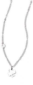 CH31 collana in acciaio girocollo quadrifoglio lunghezza 50 cm dimensioni charm 1,5x1,5 cm