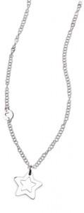 CH32 collana in acciaio girocollo stellina lunghezza 50 cm dimensioni charm 2x2 cm