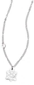 CH33 collana in acciaio girocollo tartarughina lunghezza 50 cm dimensioni charm 2x2 cm