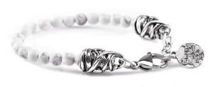 BREM35 braccialetto in pietre naturali aulite con terminalino cuore