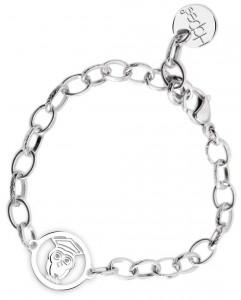 BR70 braccialetto acciaio catena regolabile gufetto laurea  misura charm 2x2cm