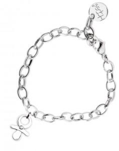 BR50 braccialetto acciaio catena regolabile ciuccio dimensioni charm 2x2 cm